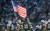 during the NFL Football game between the New York Jets and Jacksonville Jaguars on Friday, August 21, 2015 at Met Life Stadium   Photos by Alan J Schaefer